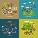 Ensemble de concept de construction de la chasse 2x2 Photos libres de droits