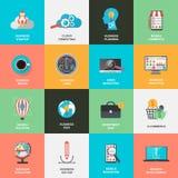 Ensemble de concept plat d'icônes de conception pour le marketing Photographie stock