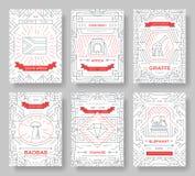 Ensemble de concept de voyage de voyage d'ornement de pays de l'Afrique du Sud Art traditionnel, magazine, livre, affiche, résumé Illustration de Vecteur
