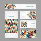 Ensemble de conception créative abstraite de cartes de visite professionnelle de visite Images libres de droits
