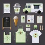 Ensemble de conception d'entreprise de crème glacée  illustration de vecteur