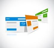 ensemble de conception d'illustration de navigateurs Photos libres de droits
