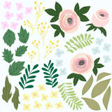Ensemble de conception de fleur Jardin Illustration de Colorfull, vecteur graphique Photographie stock libre de droits