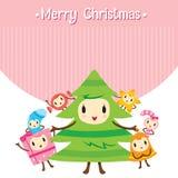 Ensemble de conception de personnages d'ornements de Noël illustration libre de droits