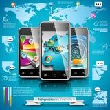 Ensemble de conception de vecteur d'éléments infographic. Graphiques de carte et d'information du monde. Photographie stock