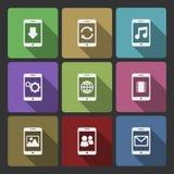 Ensemble de conception des périphériques mobiles UI, ombres carrées illustration stock