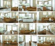 Ensemble de conception intérieure de salon moderne Photos stock