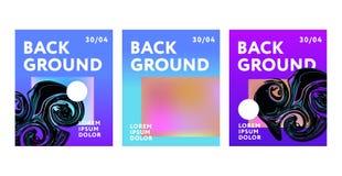 Ensemble de conception de vecteur de Mesh Abstract Fluide Art Banner de gradient de fond Illustration Libre de Droits