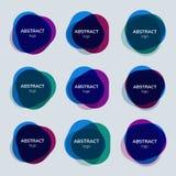 Ensemble de conceptions abstraites d'insigne illustration libre de droits