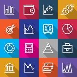 Ensemble de conceptions d'icônes de finances d'affaires Image stock