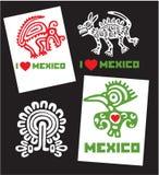 Ensemble de conceptions du Mexique d'amour du descripteur I Images libres de droits
