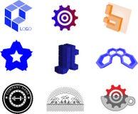 Ensemble de conceptions de logo photographie stock