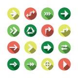 Ensemble de conceptions plates d'icône de flèche Photos libres de droits