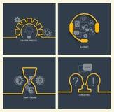 Ensemble de concepts d'affaires Image stock