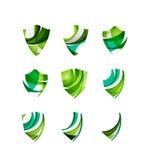 Ensemble de concepts de logo de bouclier de protection Photographie stock