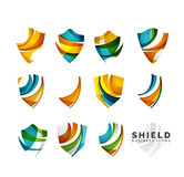 Ensemble de concepts de logo de bouclier de protection Photo libre de droits