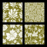 Ensemble de configuration florale de cru sans joint Photo libre de droits