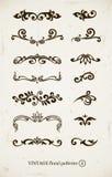 Ensemble de configurations décoratives de cru illustration stock