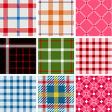 Ensemble de configurations de plaid Photos libres de droits