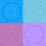 Ensemble de configurations florales sans joint Image stock