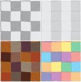 Ensemble de configurations sans joint checkered et rayées Photographie stock libre de droits