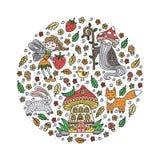 Ensemble de conte de fées de forêt Illustration de vecteur illustration libre de droits