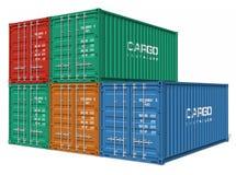 Ensemble de conteneurs de cargaison Image stock