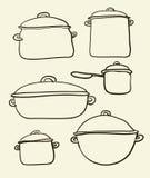 Ensemble de Cookware illustration stock