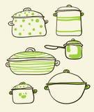Ensemble de Cookware illustration libre de droits