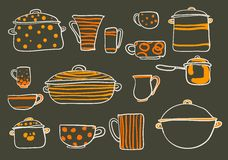 Ensemble de Cookware illustration de vecteur