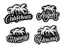 Ensemble de copies graphiques de typographie illustration stock