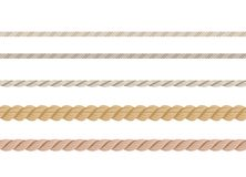Ensemble de cordes Différentes cordes nautiques d'isolement sur le fond blanc illustration de vecteur