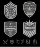 Ensemble de correction de forces spéciales Images stock