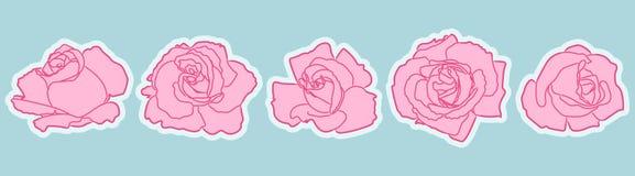 Ensemble de correction de fleurs de Rose illustration stock