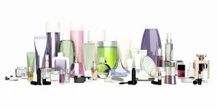 Ensemble de cosmétique décoratif Poudre, crayon correcteur, brosse de fard à paupières, Photos stock