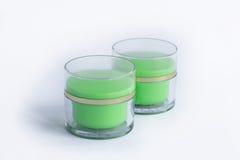 Ensemble de cosmétique de 2 bouteilles crèmes Image stock