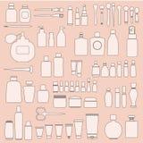 Ensemble de cosmétiques Photo libre de droits