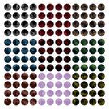 Ensemble de couleur de la poussière de cercle Image libre de droits