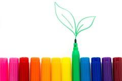 Ensemble de couleurs d'arc-en-ciel de marqueurs Image stock