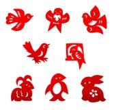 Ensemble de coupe de papier chinois Image stock