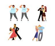 Ensemble de couples de danse illustration stock