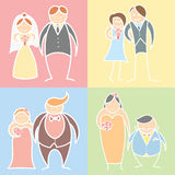 Ensemble de couples de mariage Photos stock