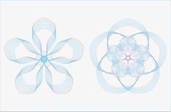 Ensemble de courbes géométriques rondes dans la double couleur de ton illustration de vecteur