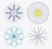 Ensemble de courbes géométriques rondes dans la double couleur de ton illustration libre de droits
