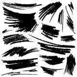 Ensemble de courses tirées par la main de crayon Image libre de droits