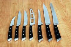 Ensemble de couteaux image stock