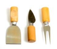 Ensemble de couteaux pour le fromage de découpage Photographie stock