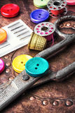 Ensemble de couture de bouton Image stock