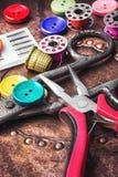 Ensemble de couture de bouton Photos stock