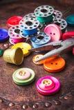 Ensemble de couture de bouton Photographie stock